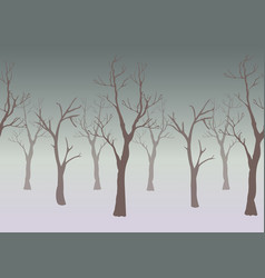 silhouette of dar trees on subtle gloomy vector image