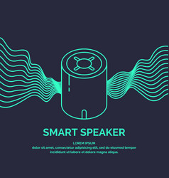 smart speaker for the control and management vector image