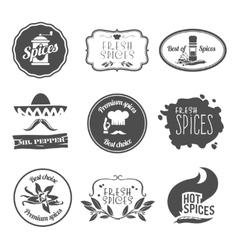 Spices labels black vector image