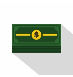 Stack of dollars icon flat style vector