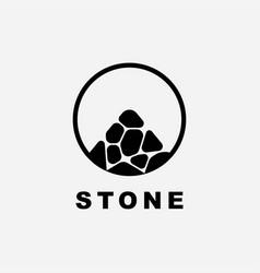 stone in circle logo design template il vector image