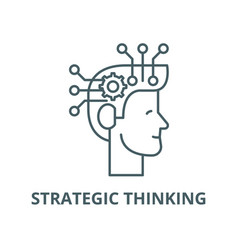 Strategic thinking line icon linear vector