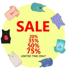 Summer sale big discounts flyer template hand vector