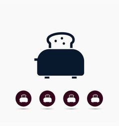 toaster icon simple food element vector image