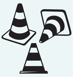 Traffic cones vector