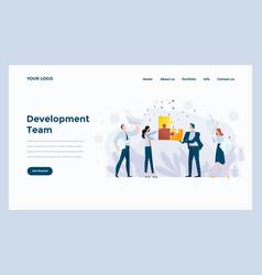 web design landing page template development team vector image