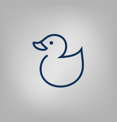 web line icon rubber duck vector image