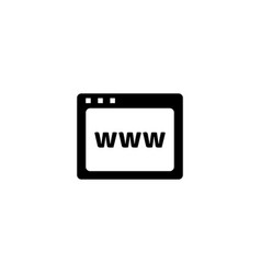 web page icon in flat style for apps ui websites vector image