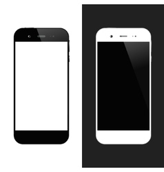 White black smartphones vector image