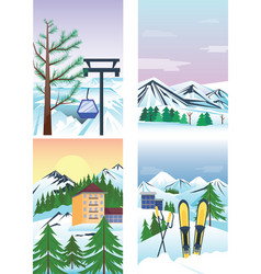 winter holidays landscape vector image