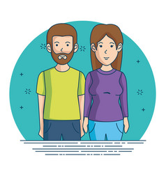 woman and man character avatar people vector image vector image
