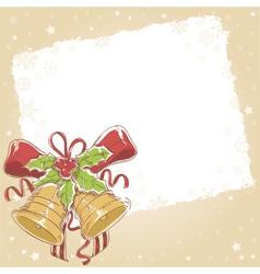Christmas hand drawn postcard with jinge bells vector image vector image