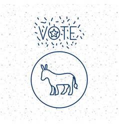 Donkey of vote inside circle concept vector