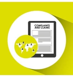 Global call center complaints and claims vector