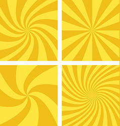 Golden and light brown spiral background set vector image