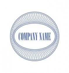 guilloche print for the company vector image