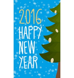 Happy new year 2016 Christmas greeting card vector image vector image