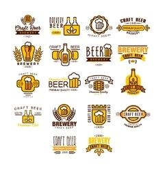 Label of beer badge vector image vector image