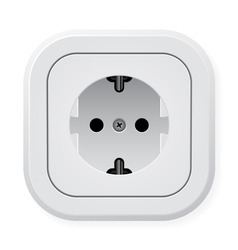 power outlet vector image
