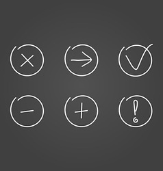 Set icons draw effect vector image