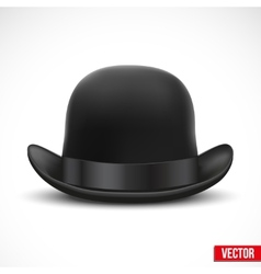Black bowler hat on a white background vector image vector image