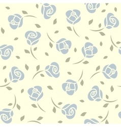 Blue roses seamless pattern vector image vector image