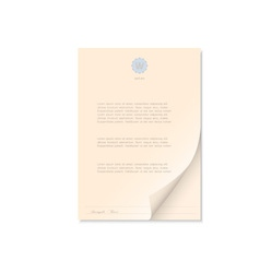 Document isolated on white vector image
