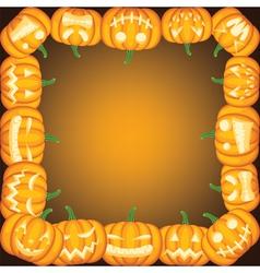 Halloween frame with Jack olantern vector image