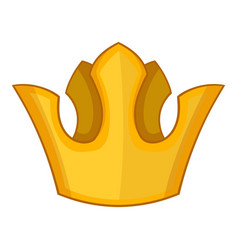 queen crown icon cartoon style vector image