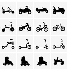 Children transport vector image vector image
