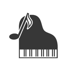 classic musical piano vector image vector image