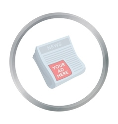 Classified ads in newspaper icon in cartoon style vector