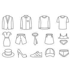 Clothes line icons set vector image