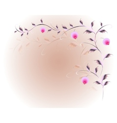 Pattern in the form of branches with berries vector image vector image