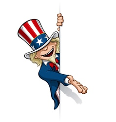 Uncle Sam Presenting a Banner vector image vector image