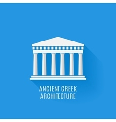 Ancient Greek architecture Icon vector image