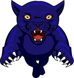 angry panther cartoon vector image