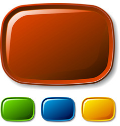 blank rounded glossy buttons vector image vector image