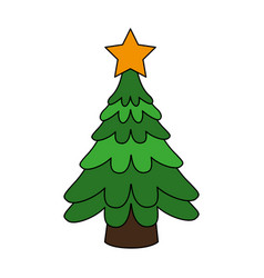 christmas tree icon image vector image vector image