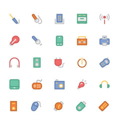Electronics colored icons 6 vector