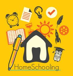 Home schooling vector