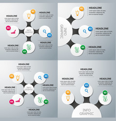 set of circle infographics template vector image vector image