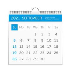 2021 september calendar template vector