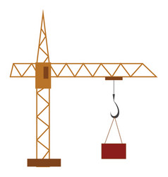 A crane at construction site or color vector