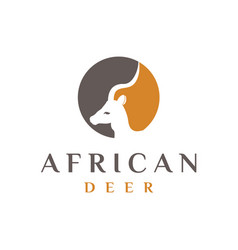African deer logo design vector