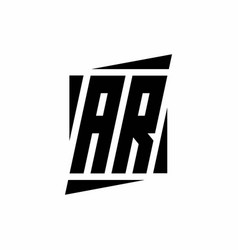Ar logo monogram with modern style concept design vector
