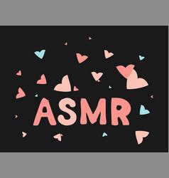Asmr isolated logo icon autonomous vector