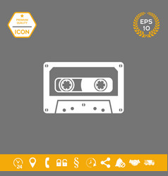 audio cassette icon graphic elements for your vector image