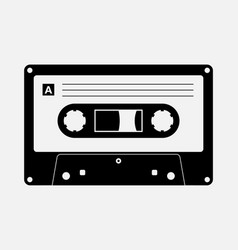 audio cassette tape isolated old music vector image