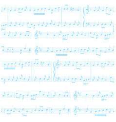 Background - white and blue seamless music pattern vector